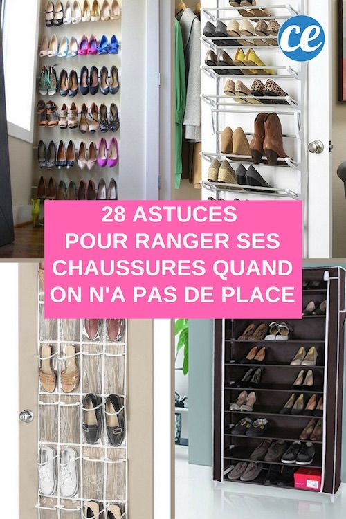 28 astuces g niales pour ranger ses chaussures quand on n 39 a pas de place rangement. Black Bedroom Furniture Sets. Home Design Ideas