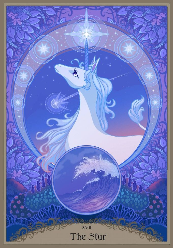 The Last Unicorn Card The Star The Last Unicorn Unicorn Art