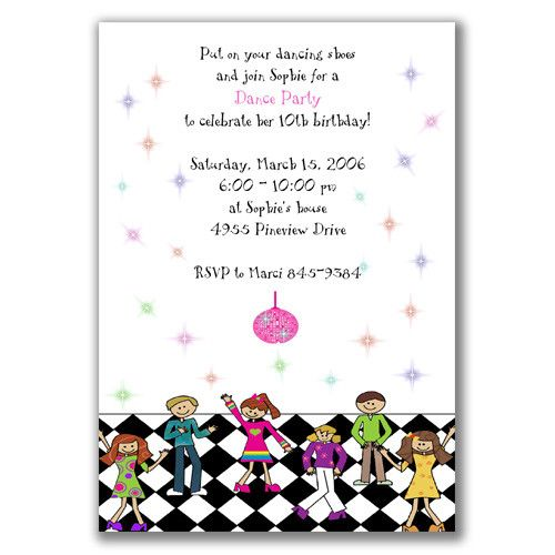 Tagkids Disco Party Invitations Printable Party Invitations Printable Party Invite Template Dance Birthday Party Invitations