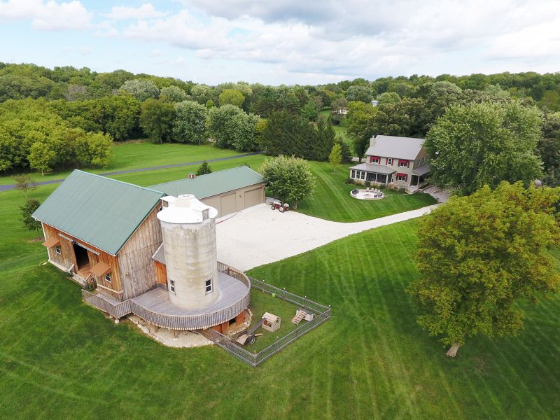 A New Home Built Upon The Footprint Of 100 Year Old Farmhouse Highlighted By An 1800s Wood And Fieldstone Barn Fully Refurbished With Added Circular