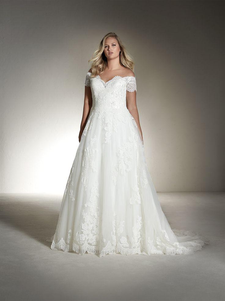 FABIANA PLUS Brautkleid Kurzarm (Plus-Größe) | Hochzeitskleider ...
