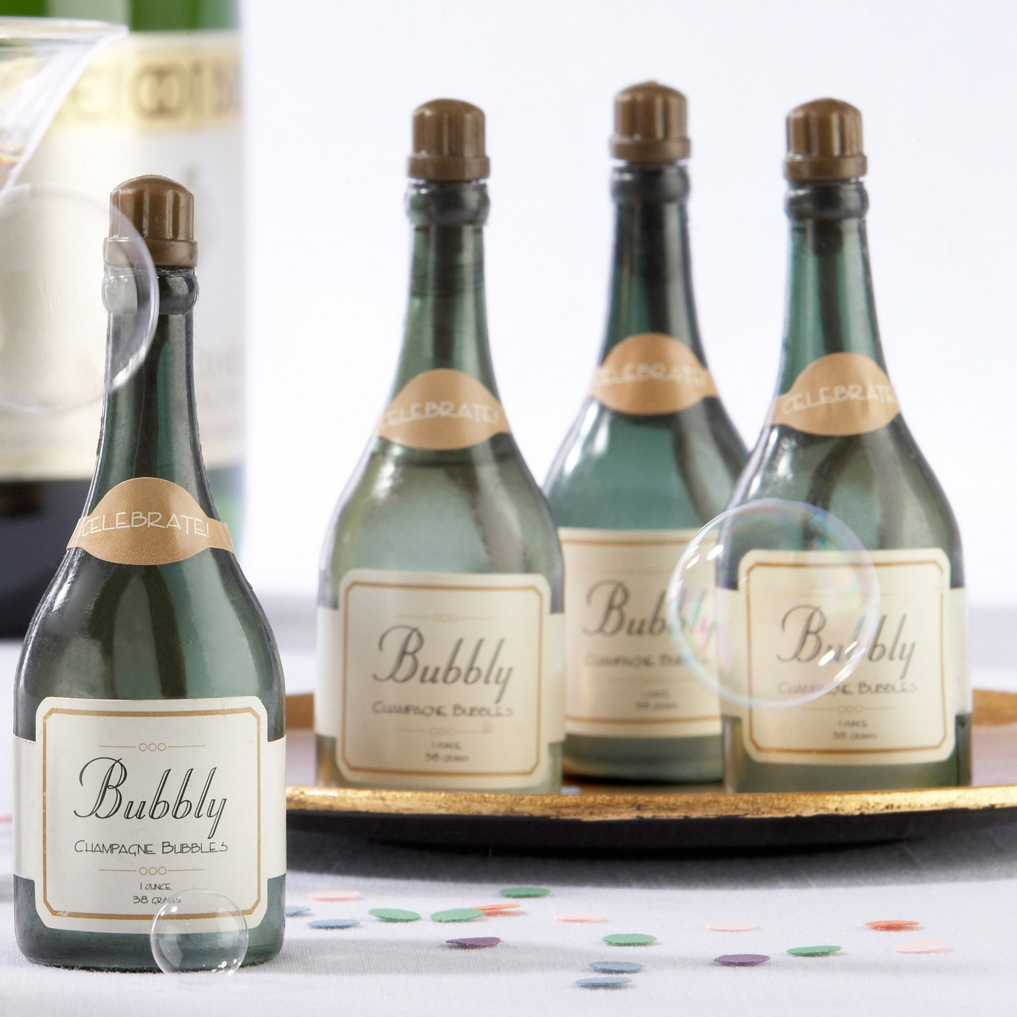 Bubbly Champagne Bubbles For Wedding Reception - Set of 24 ...