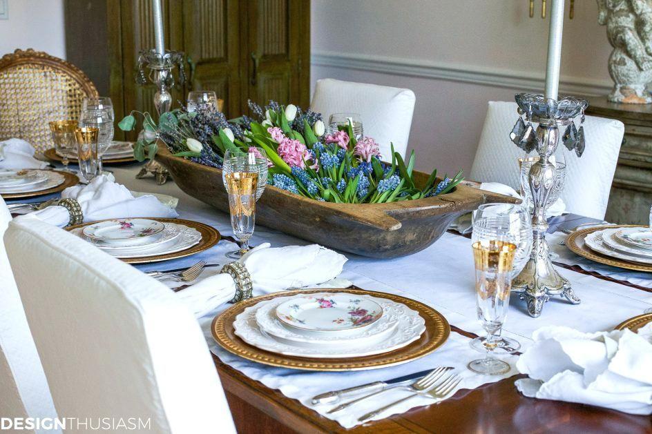 Elegant White Gold Thanksgiving Table Setting Gold Dining Room
