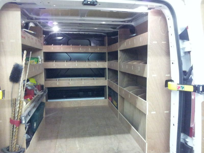 Ford Transit Custom Van Racking Swb Complete 12mm Plywood Shelving Storage Transitional Decor