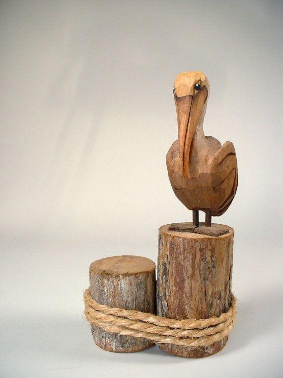 #plknbtk/_19 pelican wood carving