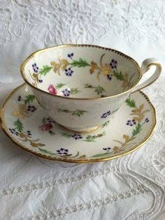 Vintage Rosenthal Maria Continental blue bouquet bone china tea cup set