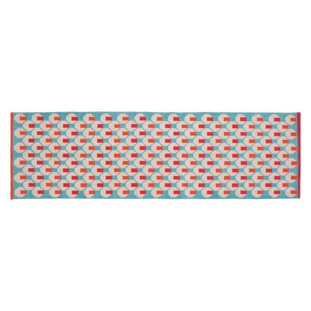 Octo Multi Coloured Cotton Runner 75 X 250cm Cotton Runner Flat Weave Rug Rugs On Carpet