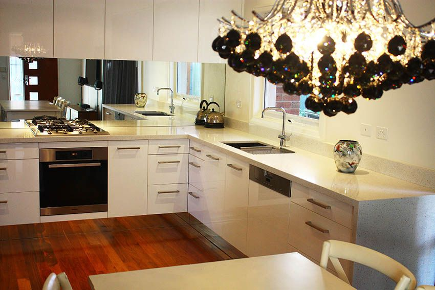 Live :: Kitchen Designed By Eat.live With Mirrored Splashback And Kickboards