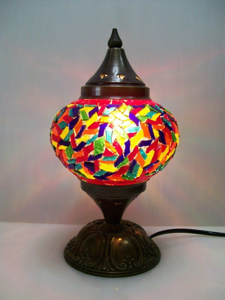 Zinc Mosaic Pot Lamp