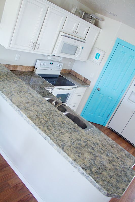 Painted kitchen counters.