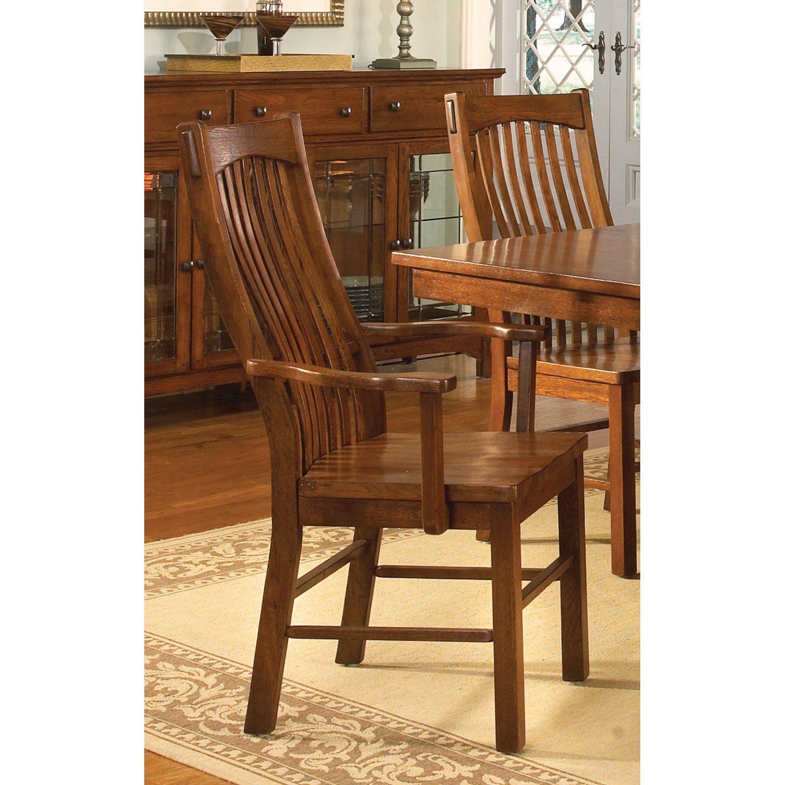 A America Laurelhurst Slat Back Dining Arm Chair Set Of 2