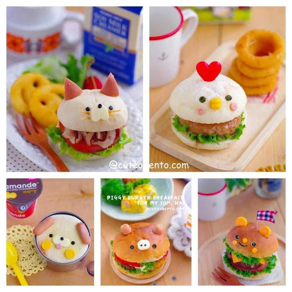 cute burger japanese food art pinterest burgers bento and kawaii. Black Bedroom Furniture Sets. Home Design Ideas