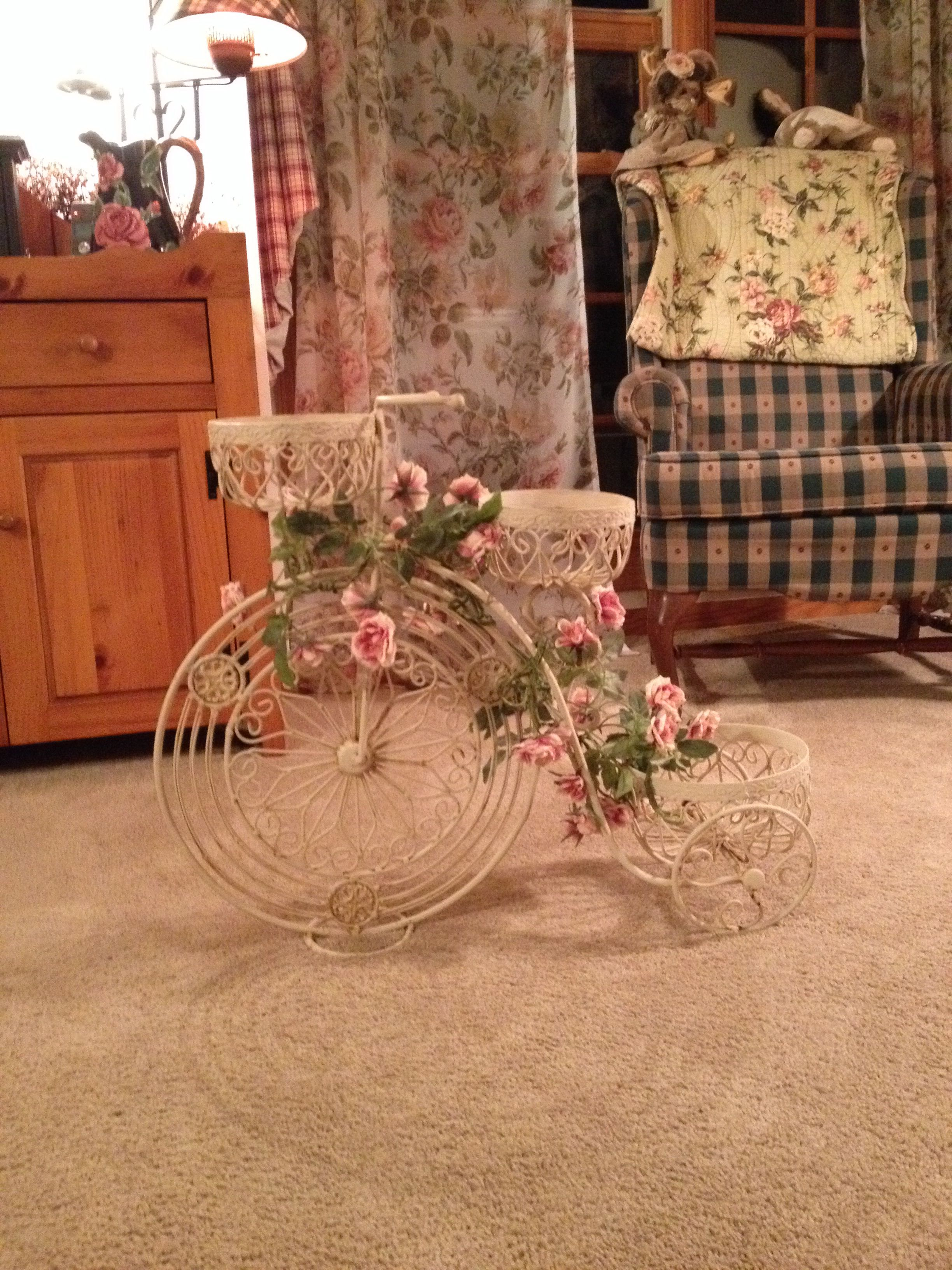 My antique tricycle planter my awesome find