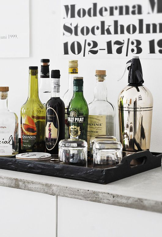 Alcohol Tray Bar Tray Bars For Home Bar Cart Styling