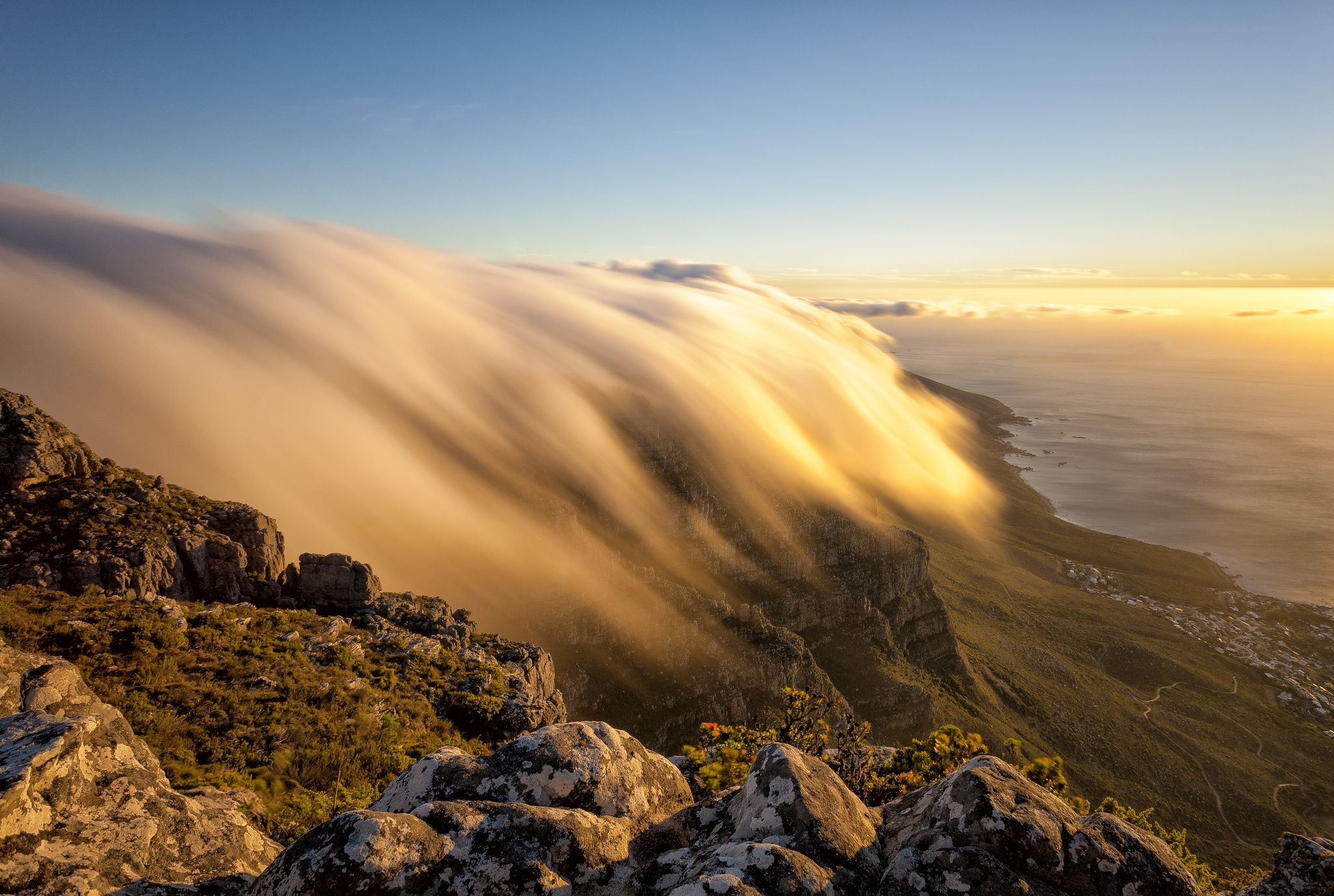 Golden Cloud River by PJ van Schalkwyk on 500px