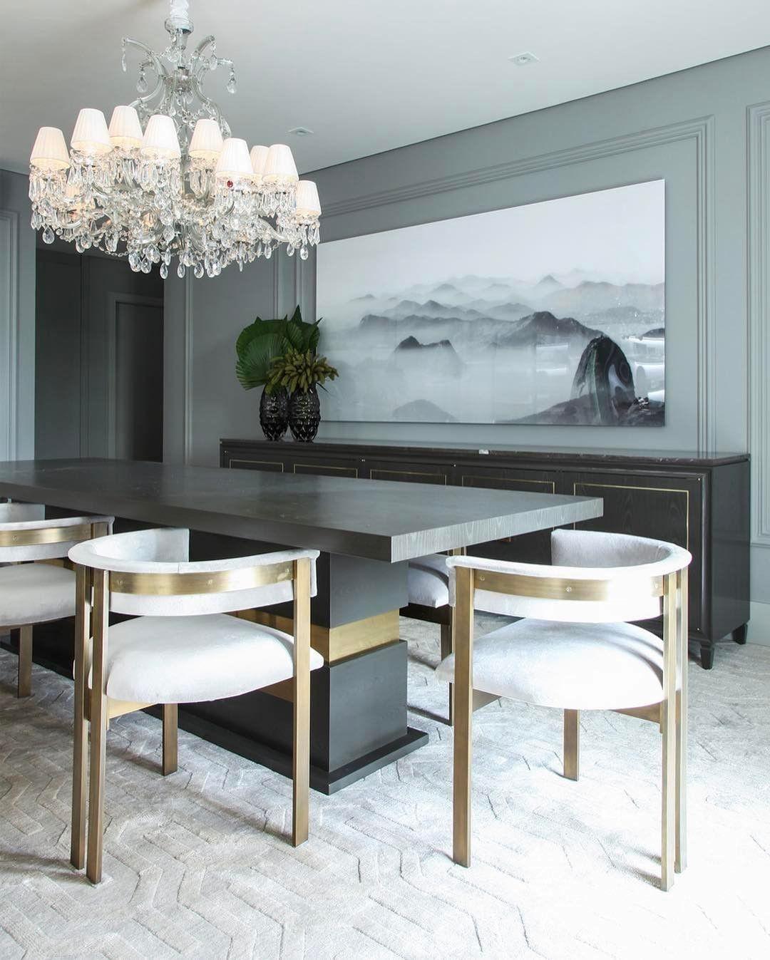 Detalhes Sala De Jantar All Grey By Chris Hamoui O Que S O Essas  -> Sala De Jantar Atlanta