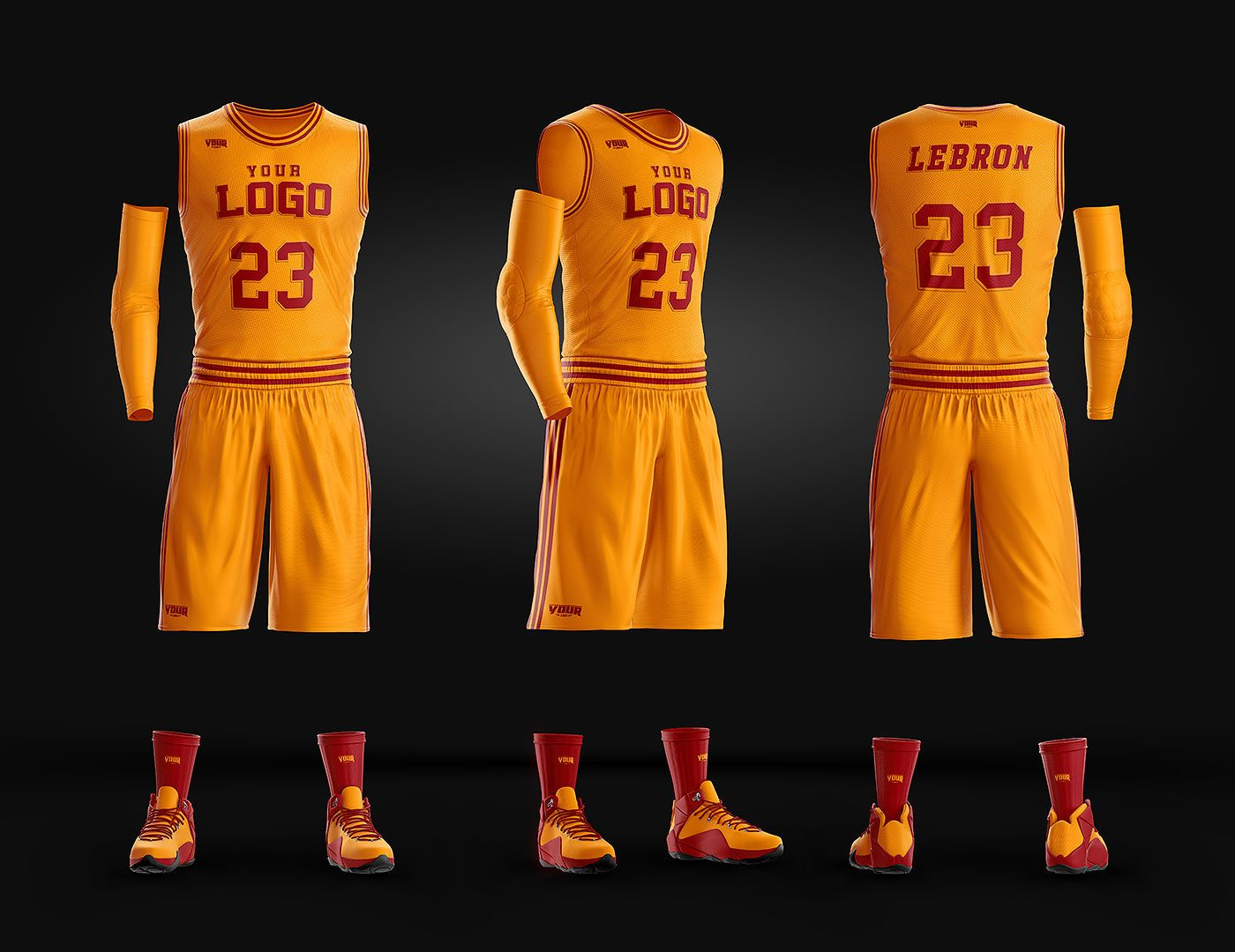 Download Basketball Uniform Jersey Mockup Freebie   Basketball ...
