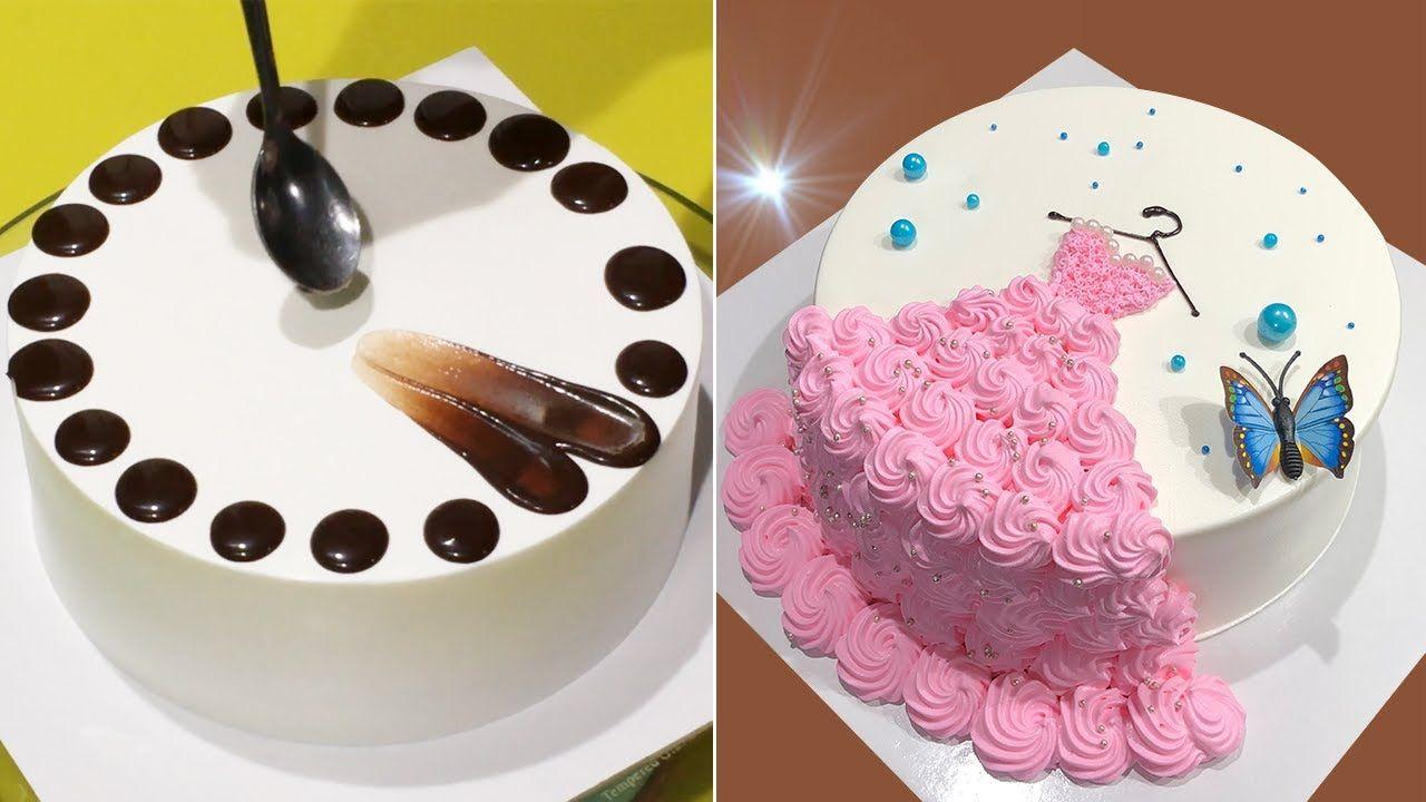 Amazing Cake Decorating Tutorial Like A Pro Yummy Chocolate Cake Decorating Recipes Cake Design Yo Fruit Cake Design Diy Cake Deco Chocolate Cake Designs