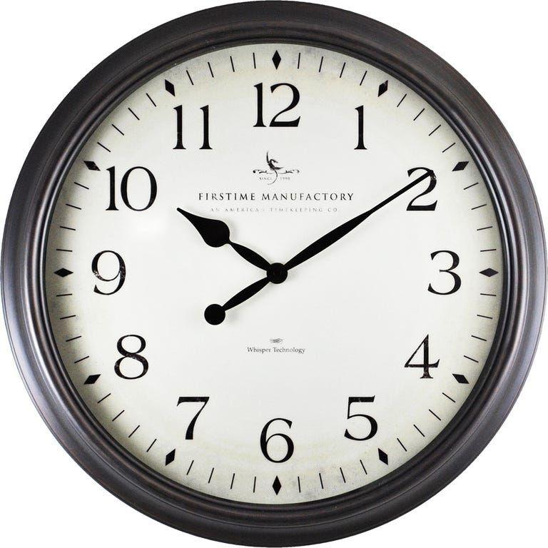 Avery Whisper Oil Rubbed Bronze Wall Clock Wall Clock Classic Wall Clock Round Wall Clocks Oil rubbed bronze wall clock
