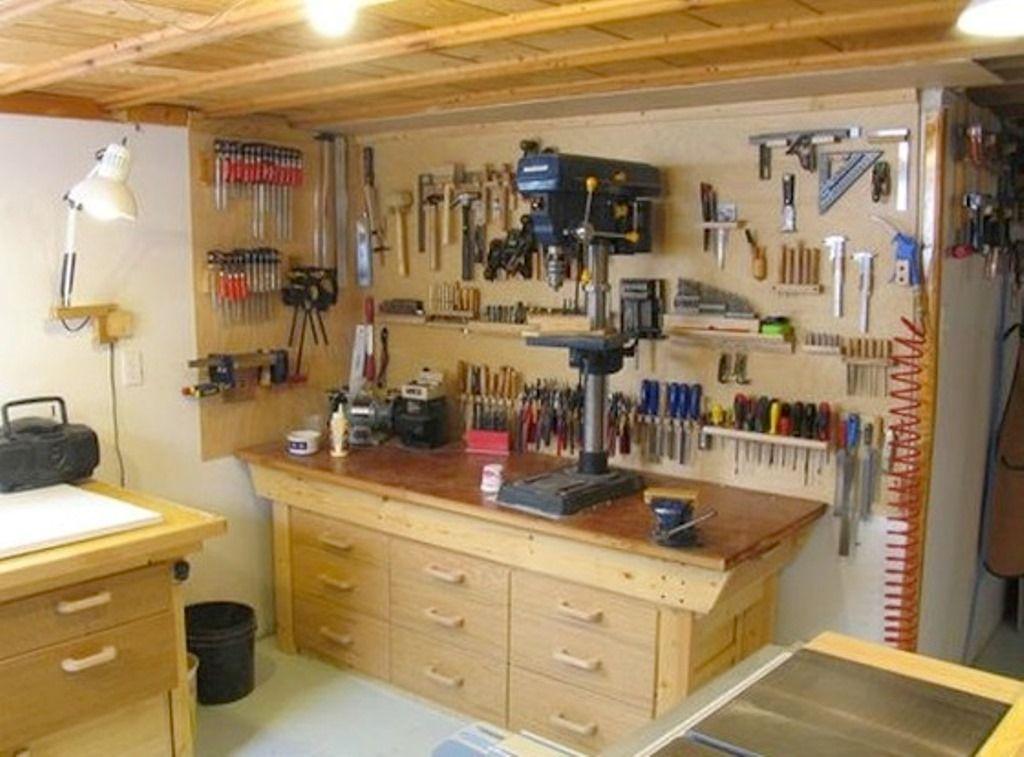 Small Basement Workshop Ideas  Inspiring Basement Ideas   Woodshop Dreamin  Basement workshop Woodworking workshop Garage workshop
