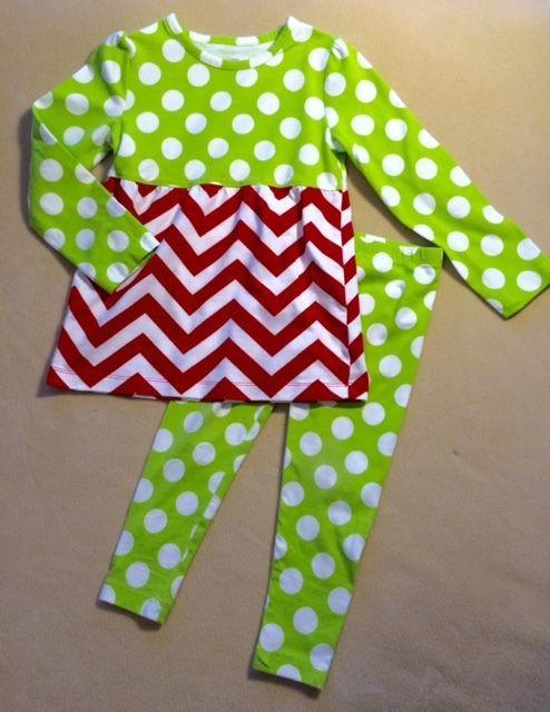 2b0c284b7795 J. Khaki JK girls sz 3T Outfit Red White chevron