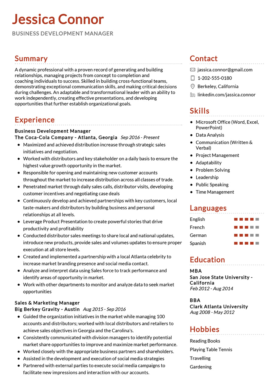 100 Professional Resume Samples For 2020 Resumekraft Business Development Business Analyst Resume Resume Tips