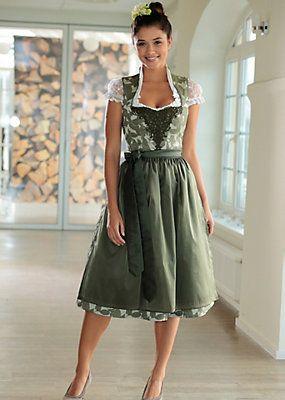 Country Line Dirndl midi mit integriertem Petticoat bequem