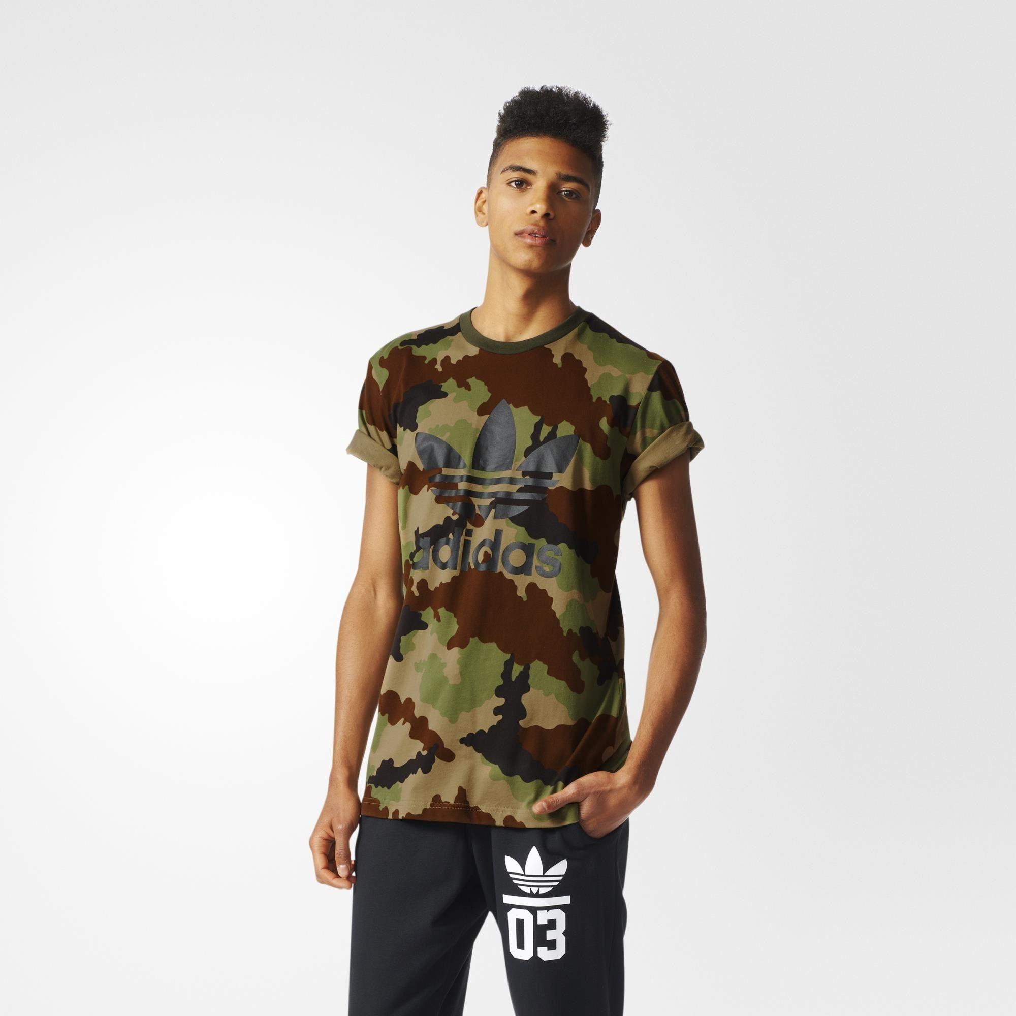 adidas Camouflage Trefoil Tee Multicolor | adidas US