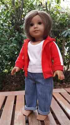 Hoodie 18 inch Doll Clothes Pattern PDF Download | Pixie Faire #18inchdollsandclothes