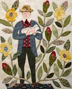 The Civil War Bride Quilt: Groom with Lamb -  ahhhhhhh, love this block!