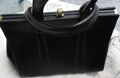 Vintage Leder Damenhandtasche 40 / 50er Jahre - Sommer Sale für 116,00 €