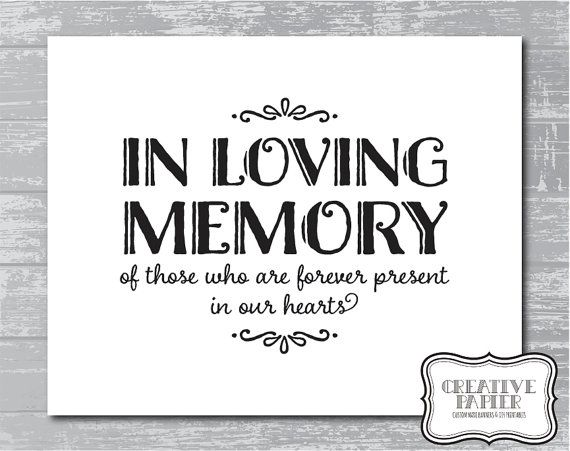 instant download in loving memory sign 8x10creativepapier, Powerpoint templates