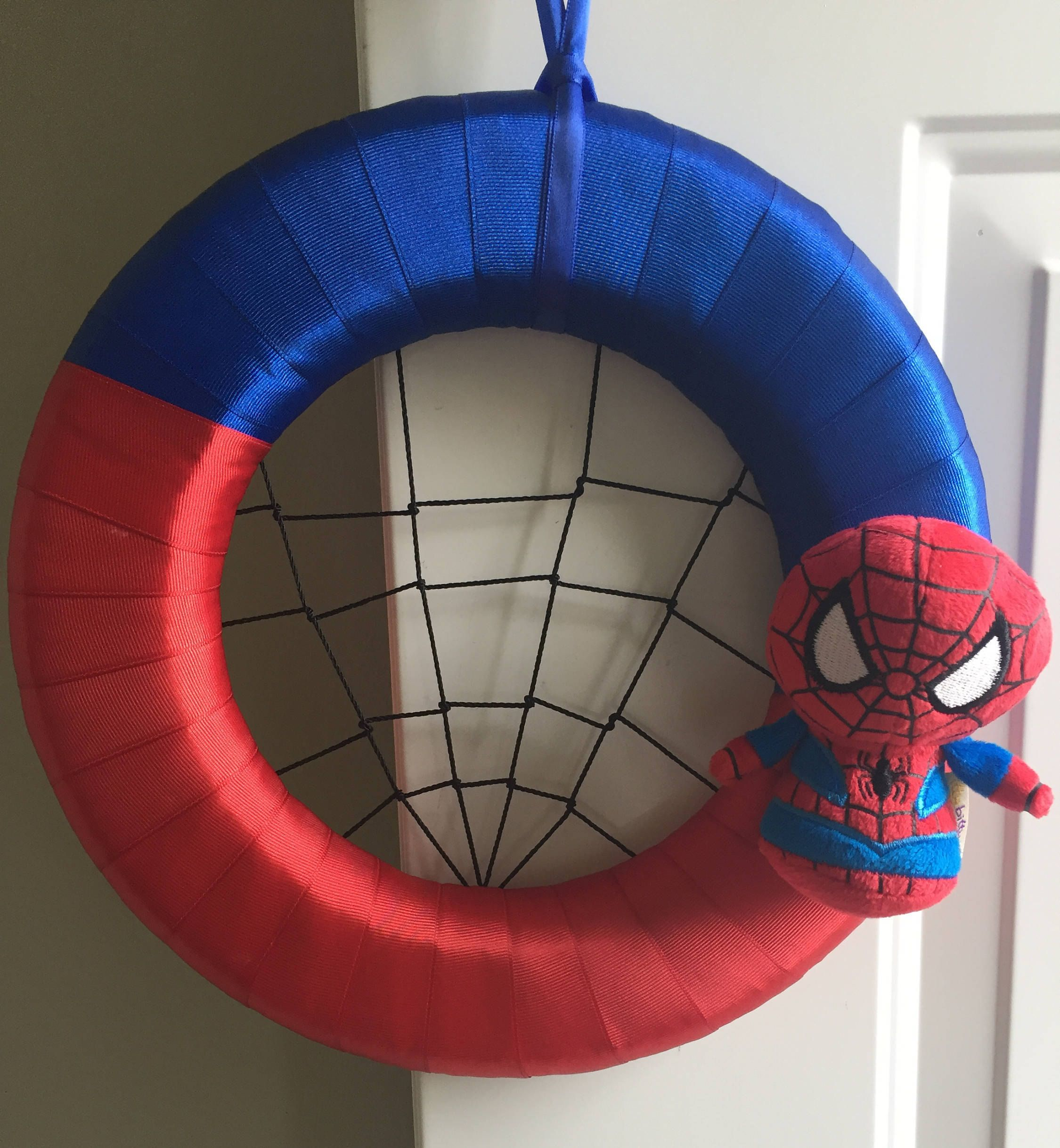 Spiderman Wreath/Superhero Wreath/Red and Blue Wreath/Disney Wreath ...