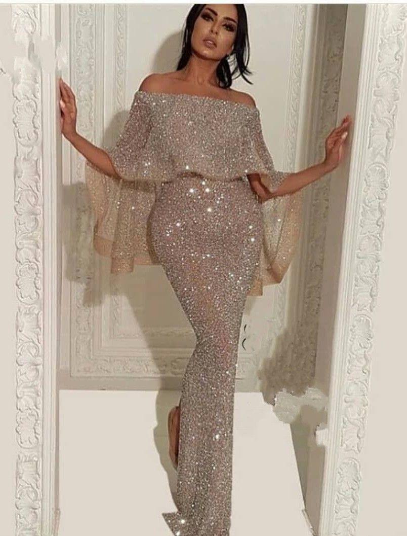 elegante abendkleider mit glitzer | abiballkleid lang