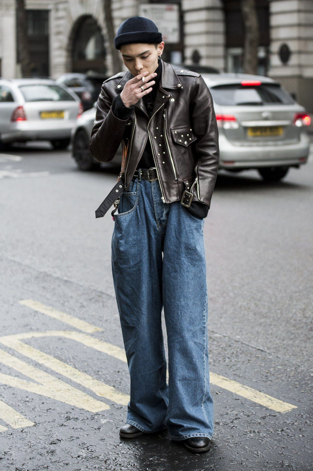 London Men's Fashion Week Street Style: Bold Blocks of Color, Don't Forget the Fur