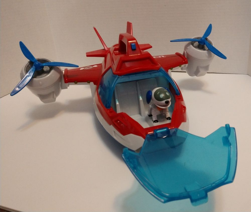Paw Patrol Robo Dog Pup Lights Sounds Rescue Flying Air Patroller Plane Jet Only