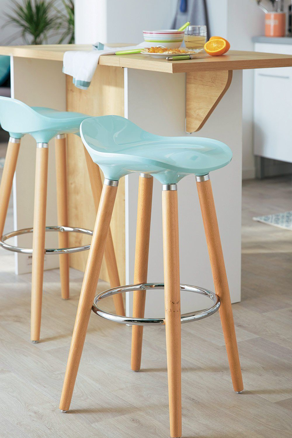 Une Chaise De Bar Vert D Eau Alinea Home Furnishings Bar