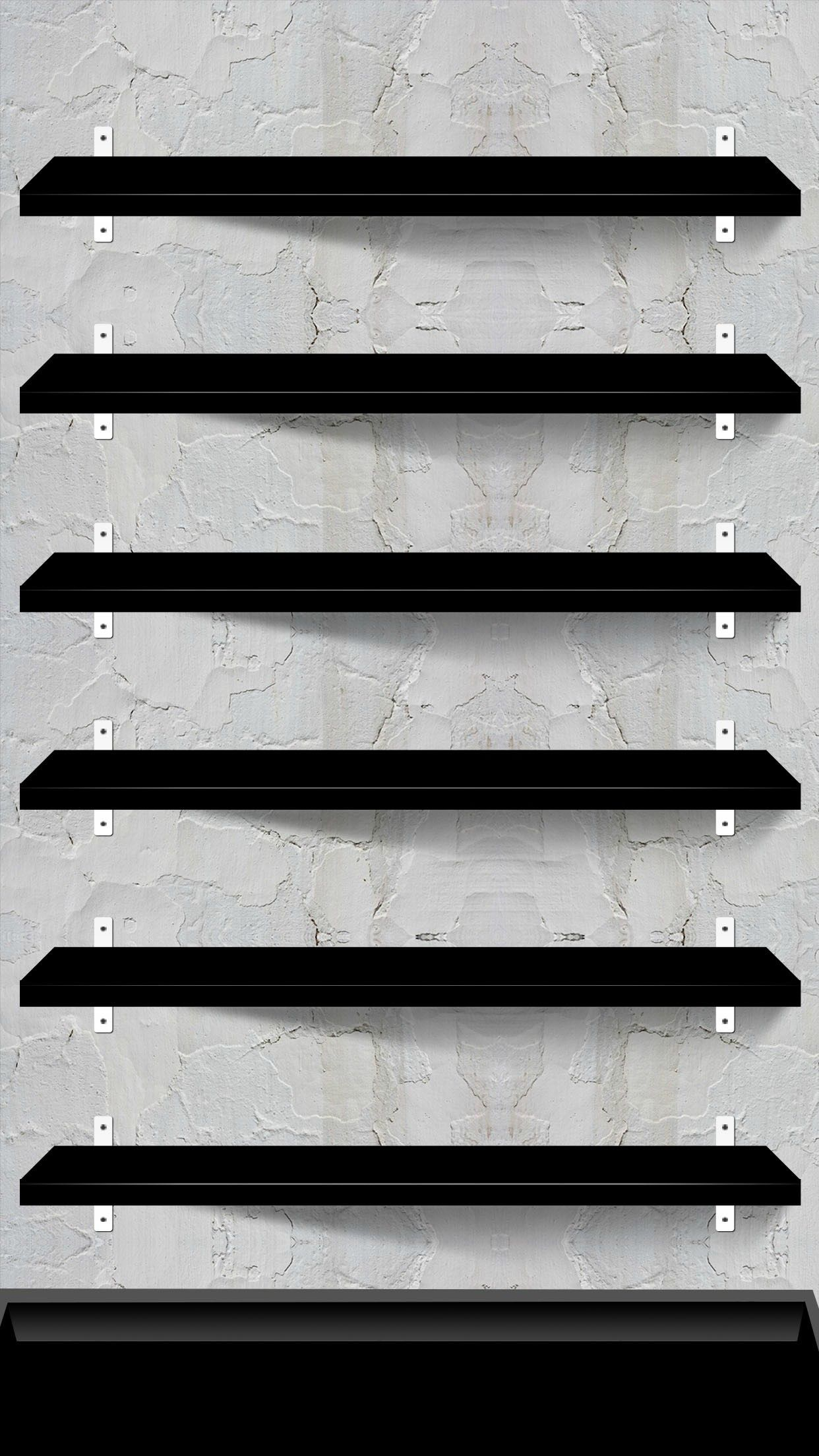 10 Creative Shelves Wallpapers For The IPhone 6 Plus