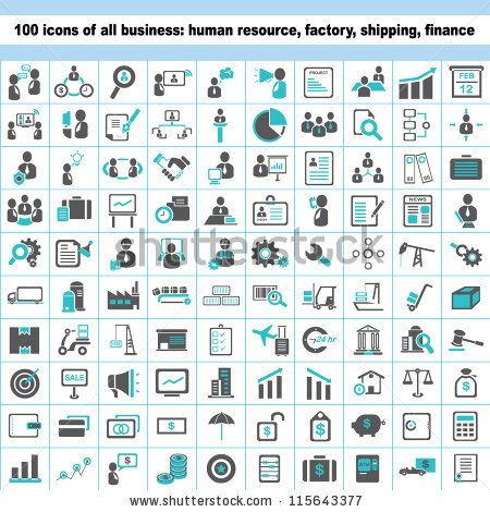 100 Business Icons Human Resource Finance Logistic Icon Set Business Icon Human Resources Finance