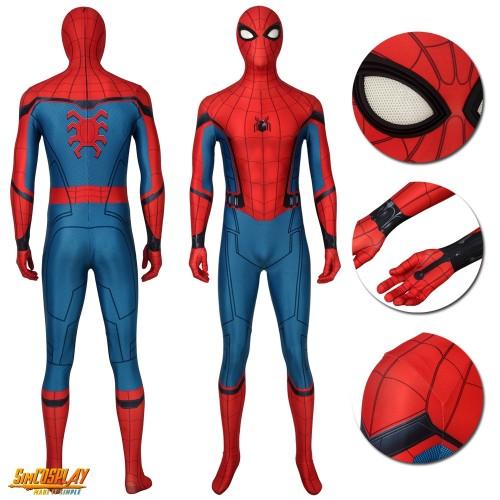 Spider Man Peter Paker Classic Suits Spider Man Far From Home Cosplay Suits Spiderman Classic Suit Superhero Costumes Kids