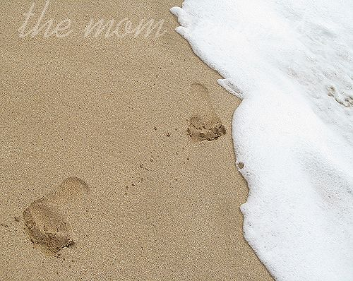 Footprints in the sand, Lanai.
