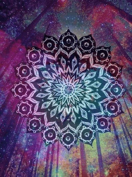Mandala Violet Arbre Etoile Les Arts Mandala Art Mandala Couleur