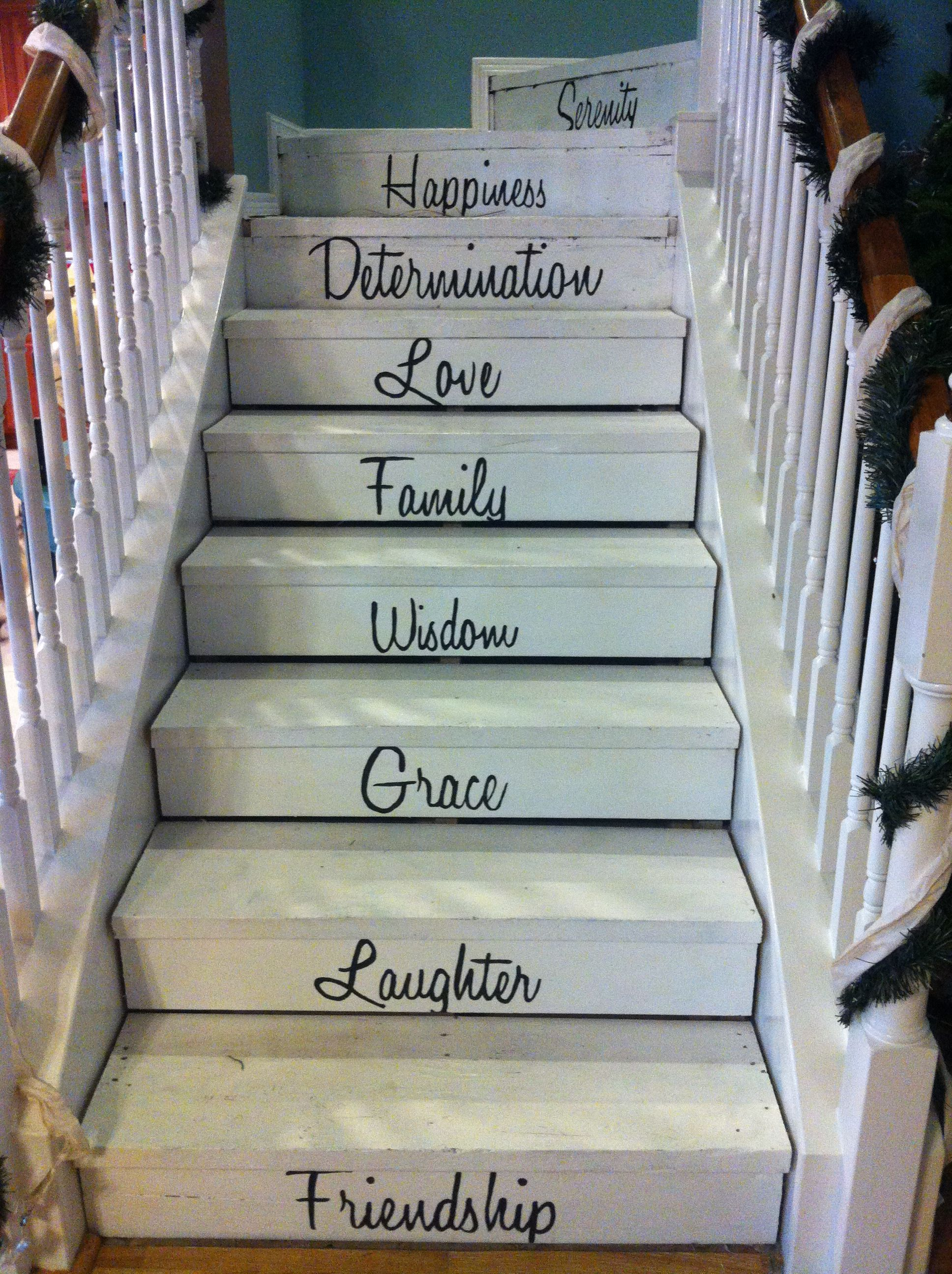 Words On Stairs Frame Wall Decor Words Live Laugh Love
