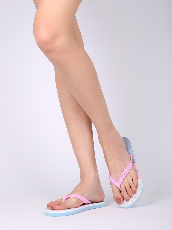 ea433394e Shoes Women PVC Tribal Pattern Thong Sandal