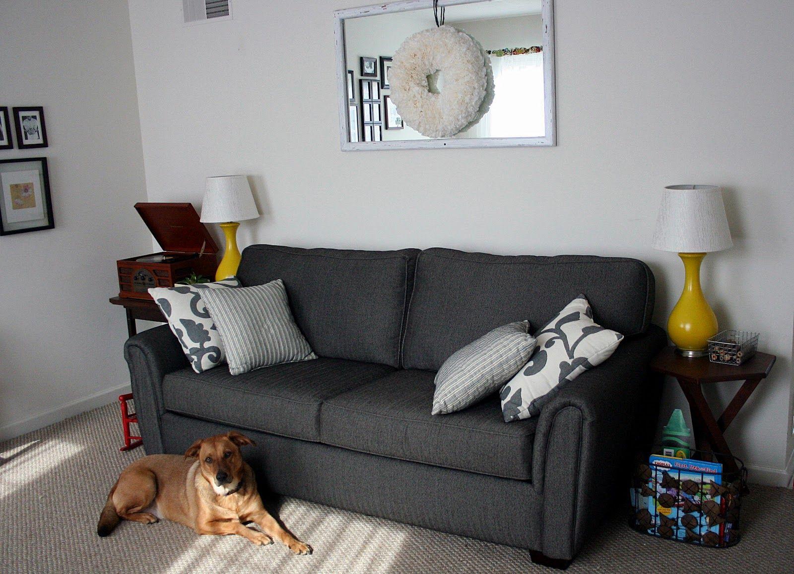 dark grey couches with dark green pillows - Google Search & dark grey couches with dark green pillows - Google Search | New ... pillowsntoast.com