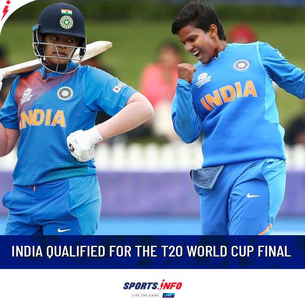 India Qualified For The T20 World Cup Final In 2020 Nba Sports Sports Cricket