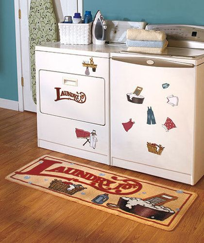 Organizer Rug Or Magnet Set Laundry Room Collection Vintage Fun Color Decor New Laundry Room Decor Laundry Room Rugs Decor