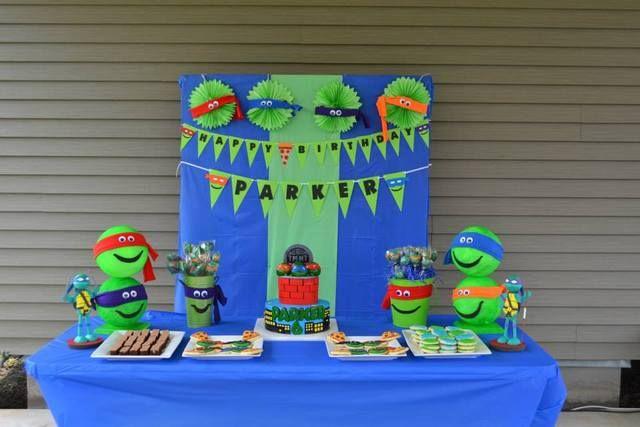 Teenage Mutant Ninja Turtles Birthday Party Ideas Photo 13 Of 37 Ninja Turtles Birthday Party Turtle Birthday Parties Teenage Mutant Ninja Turtles Birthday Party