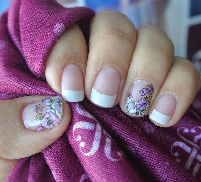 Jamberry French Tip & Dancing Lilacs   Jamberry French Tips ...