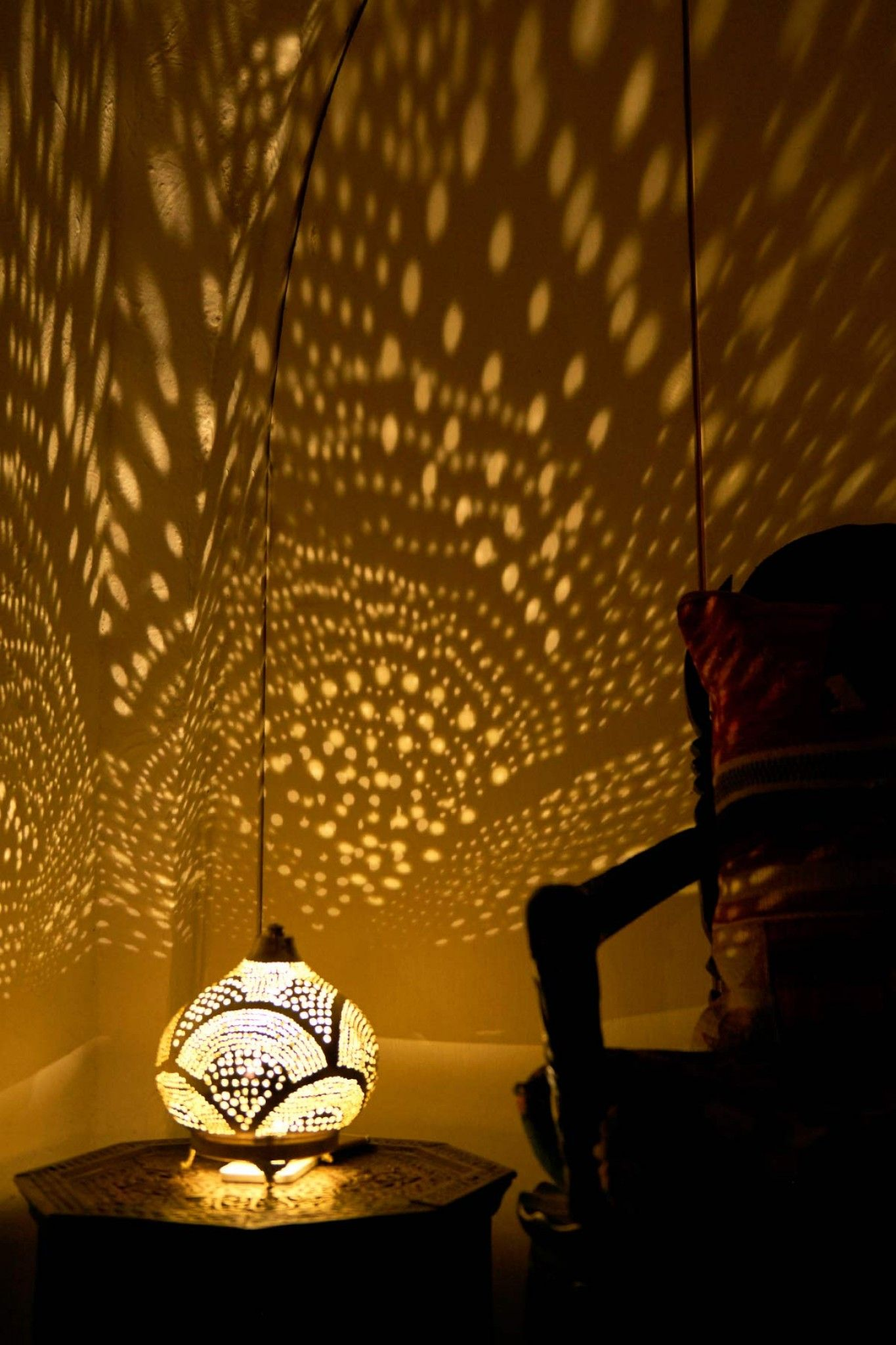 Punched Metal Turkish Table Lamp Meditation Room Meditation